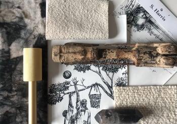 Anishka, Moodboard, Sheila Bridges, Harlem Toile, S. Harris, Fabric, S. harris Fabric