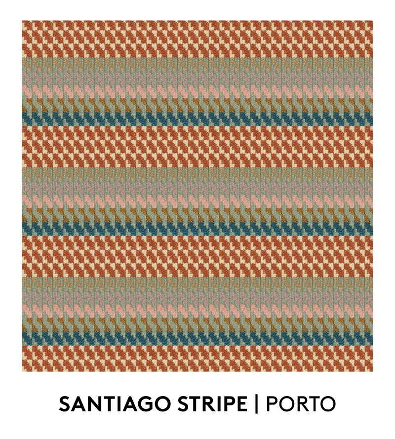 Santiago Stripe, Porto, S. Harris, Fabrics, Swatches, S. Harris Fabric