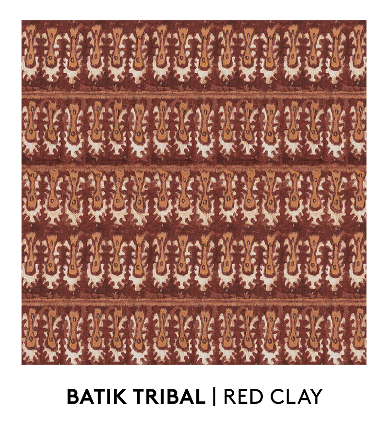 Batik Tribal, Red Clay, S. Harris, Fabrics, Swatches, S. Harris Fabric