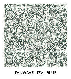 Fanwave Teal Blue, Fanwave, Teal Blue, S. Harris, Fabrics, Textiles, Textured