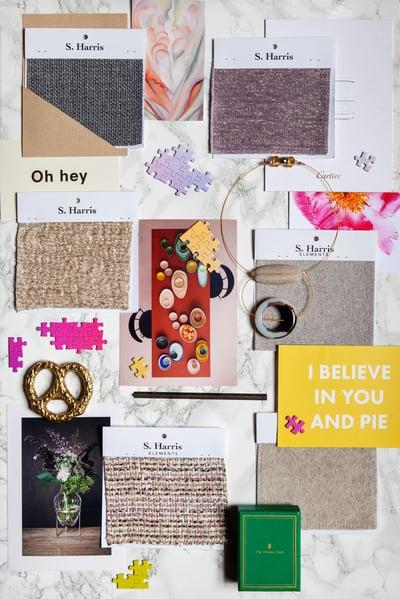 Moodboard, Momentum, Inspiration, S. Harris, Textured, Textured Blog, Jodi Finer, Fabrics, Textiles