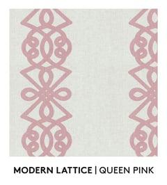 Modern Lattice, Queen Pink, S. Harris, Fabrics, Textiles, Textured