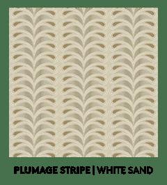 Plumage Stripe, White Sand, S. Harris, Fabric, Fall Palette, Textured Blog