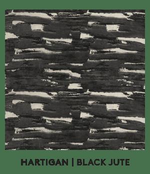 Hartigan, Black Jute, S. Harris, Fabrics, S. Harris Fabric