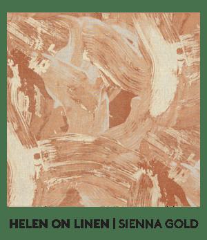Helen On Linen, Sienne Gold, S. Harris, Fabrics, S. Harris Fabric