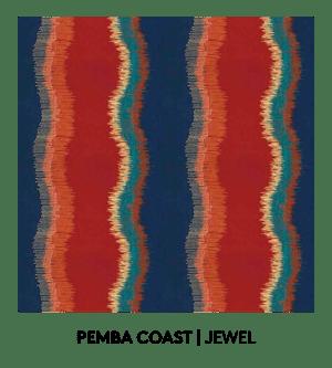 Pemba Coast, Jewel, S. Harris, Fabric