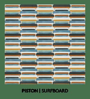 Piston, Sufboard, S. Harris, Fabric